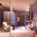 Розовые тона в дизайне ванной
