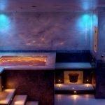 Романтическая подсветка в ванной