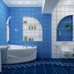 Синий в дизайне ванной