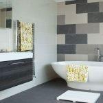Серо-белая ванная комната