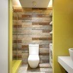 Желто-коричневые тона в дизайне ванной комнаты