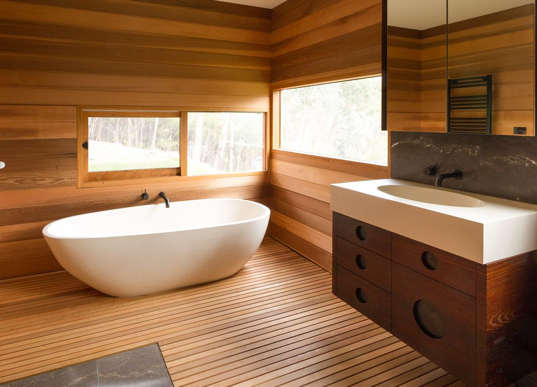Ванная в стиле эко