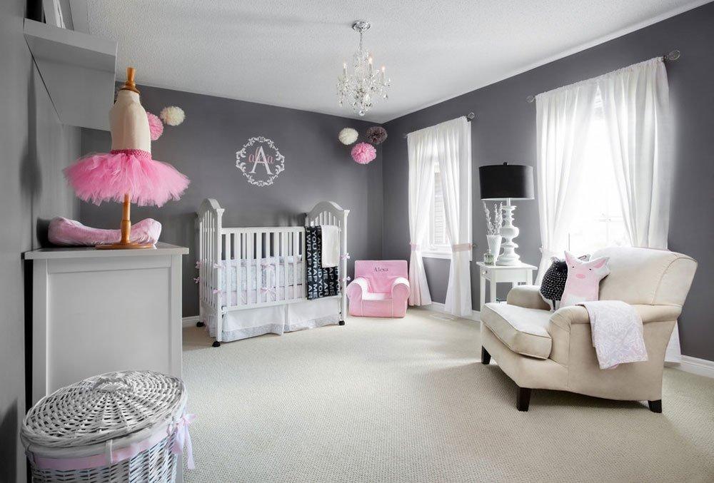 Спальня для новорожденной девочки