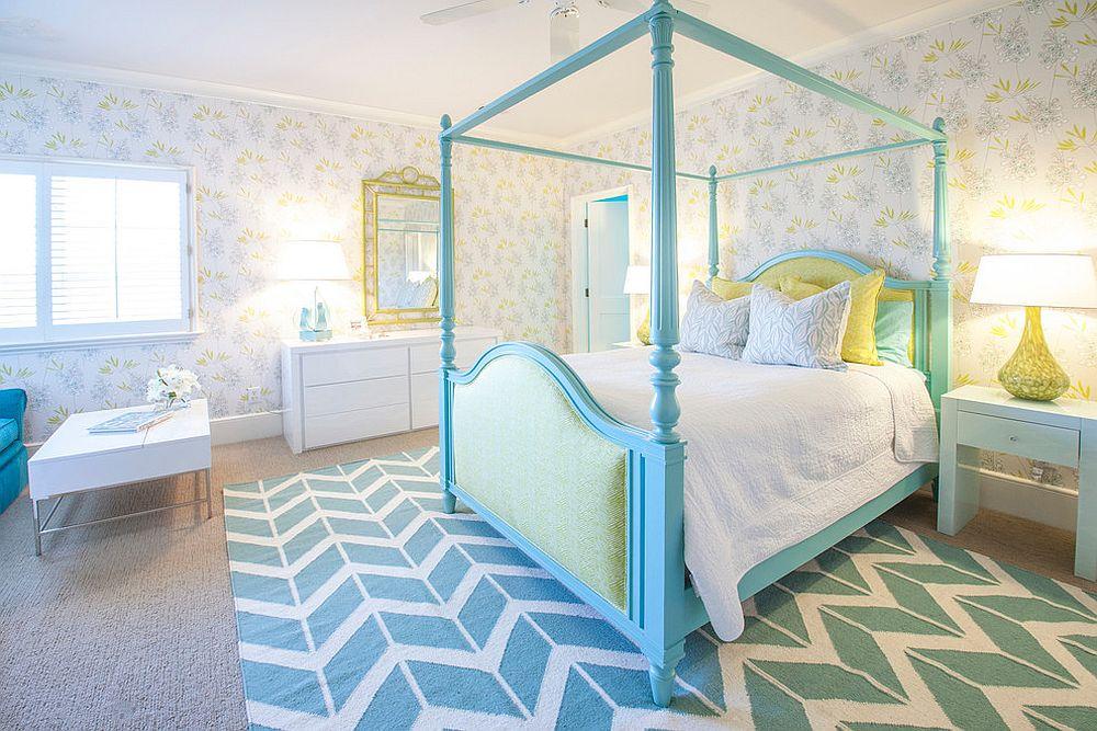 Спальня для девочки в голубом цвете