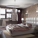 Дизайн-проект спальни с балконом