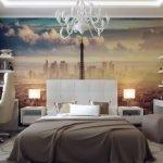 Дизайн спальни с пейзажными фотообоями