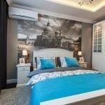 Бирюзовый в интерьере спальни