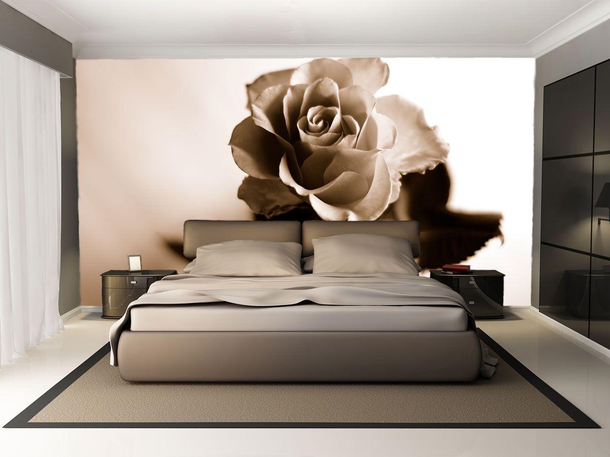 Фотообои с коричневой розой