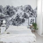 Фотообои с заснеженными горами