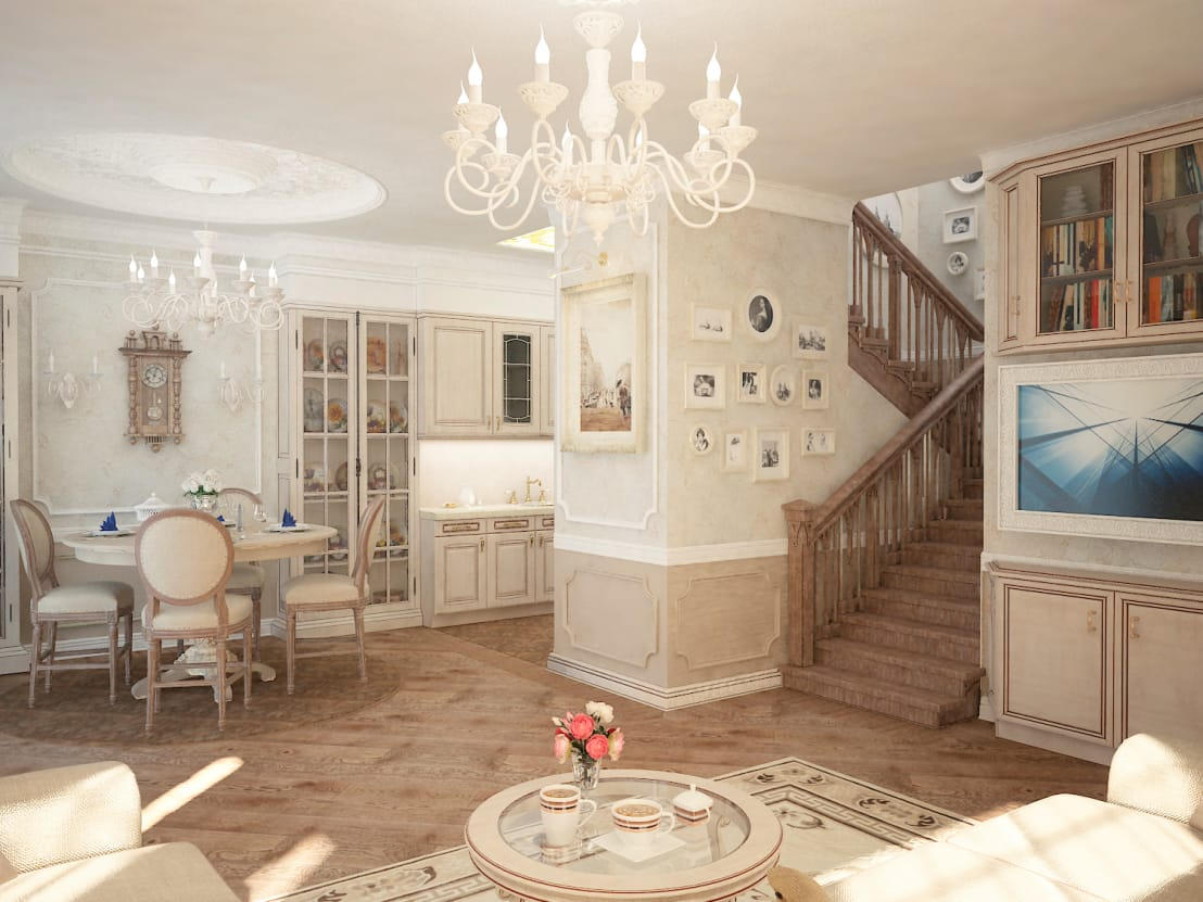Интерьер таунхауса в классическом стиле