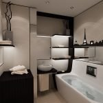 Интерьер ванной комнаты в коричневых тонах