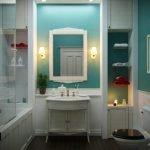 Бирюзовый в дизайне ванной комнаты