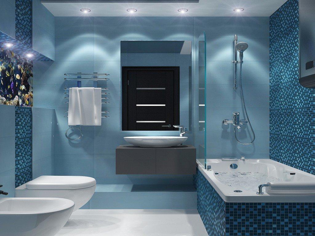Отделка ванной комнаты керамической мозаикой
