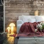 Светильники на полу у дивана