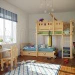 Детская комната с мебелью из дерева