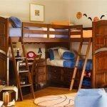 Многофункциональная детская мебель с двухэтажной кроватью