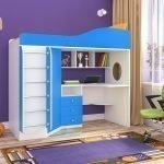 Оттенки синего в дизайне детской