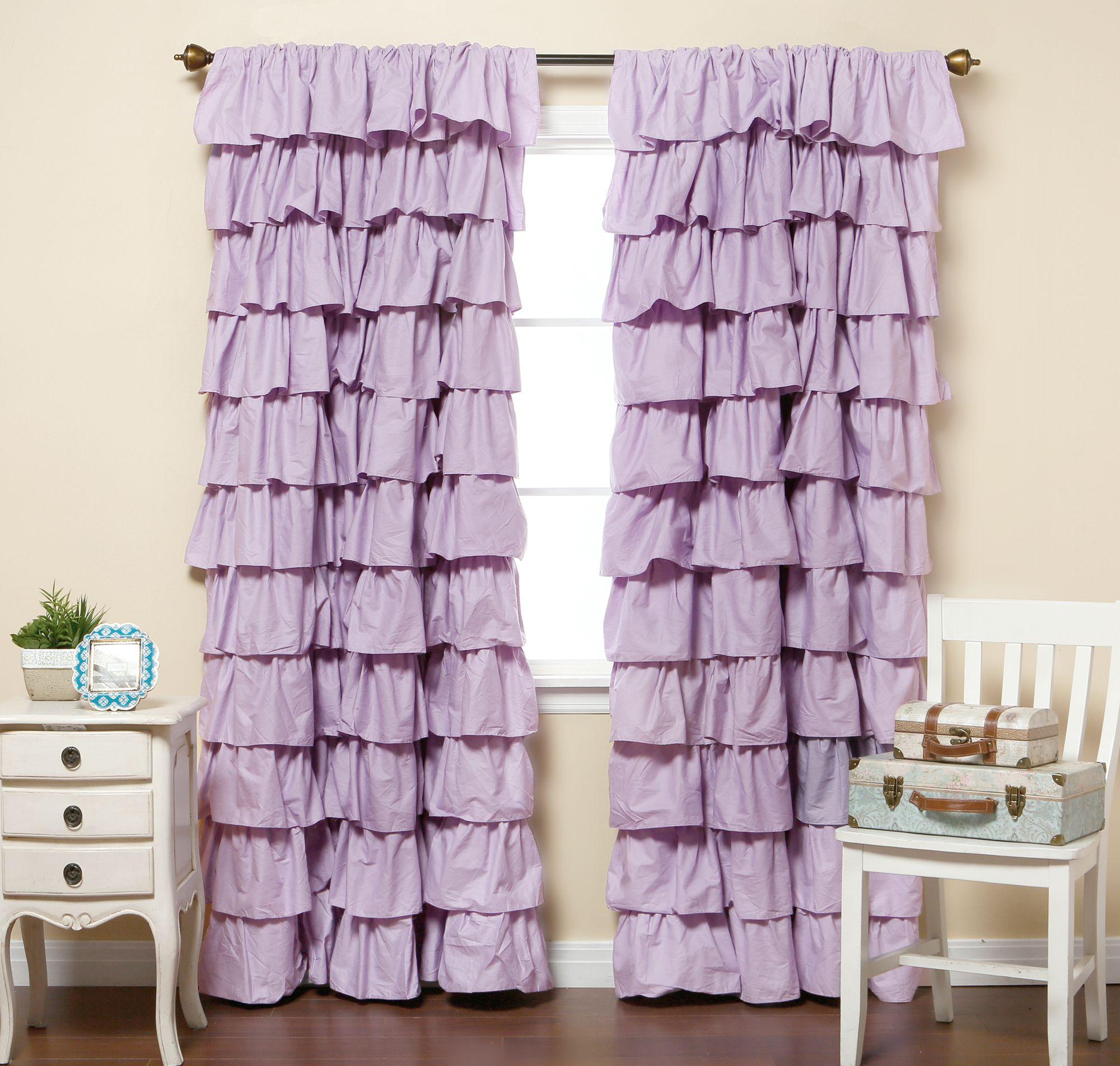 Оригинальные фиолетовые шторы