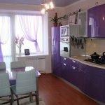 Сиреневый цвет в дизайне современной кухни