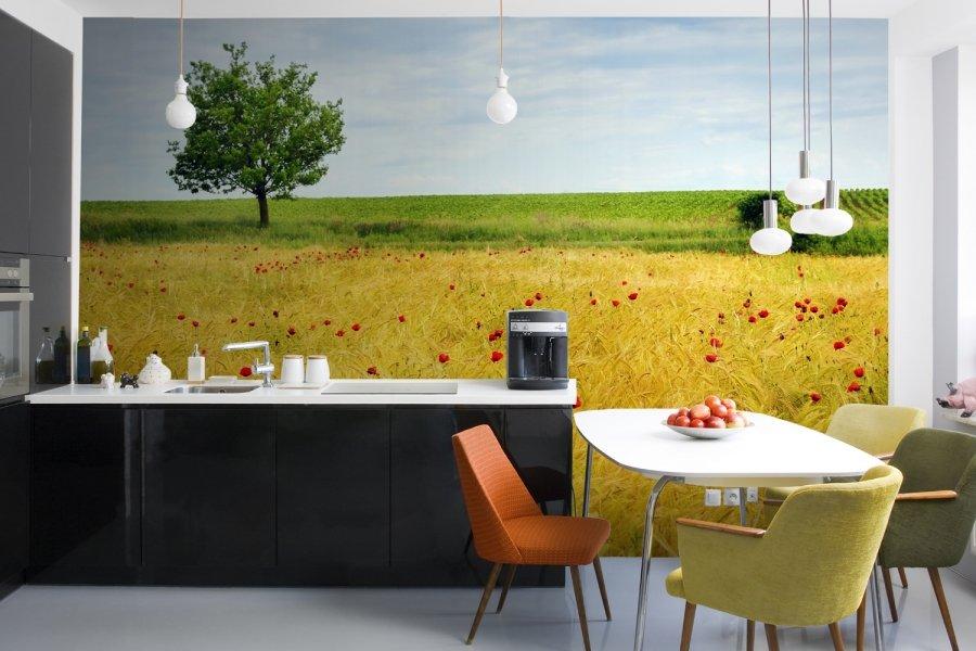Фотообои с латексной печатью на кухне
