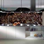 Светлый пол на кухне