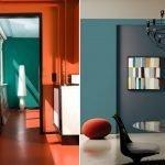Оранжево-бирюзовый дизайн
