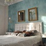 Дизайн спальни в бежево-зеленых тонах