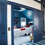 Синие двери-купе