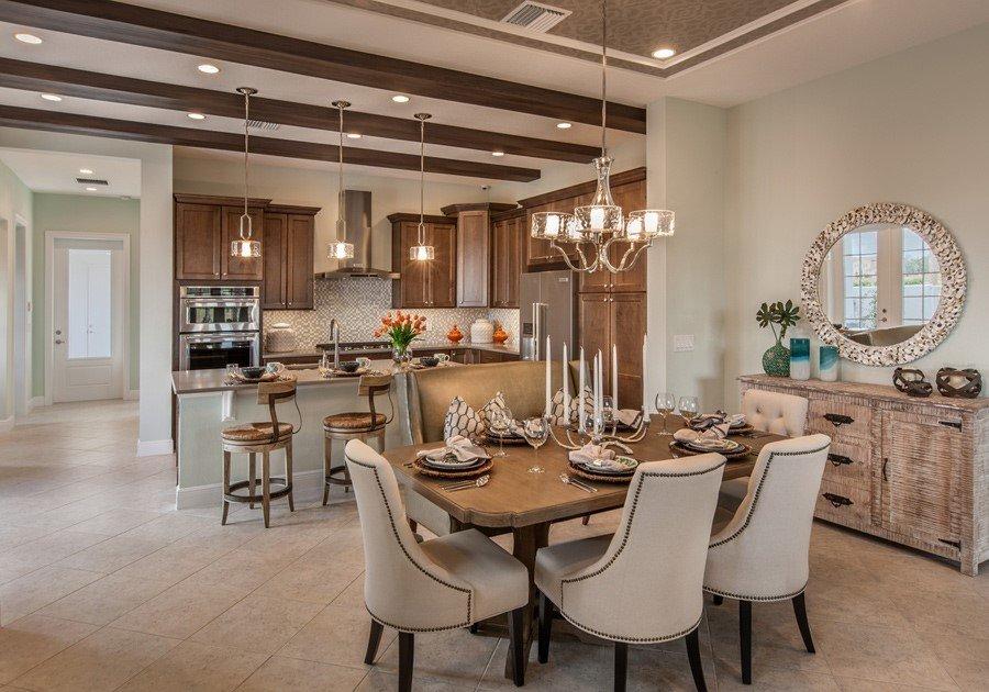 Кухня-гостиная в коттедже