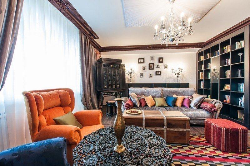 Интерьер квартиры студии в колониальном стиле