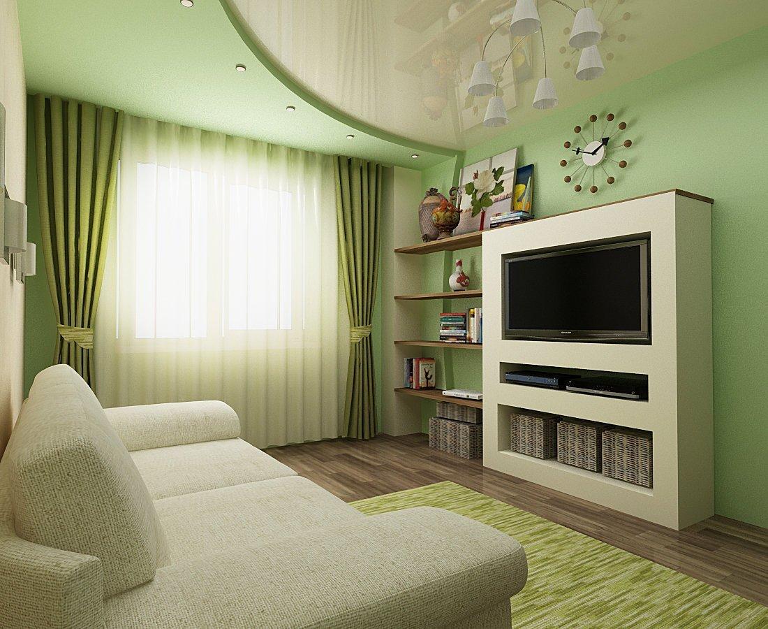Комната для гостей в зеленых тонах