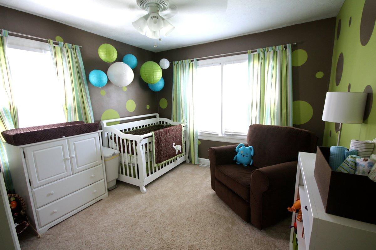 Детская коричневая спальня