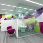 Яркие цвета в дизайне офиса