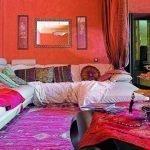 Красная комната в восточном стиле