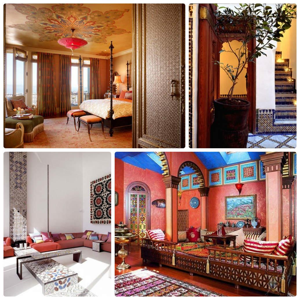 Освещение и мебель для марокканского интерьера