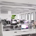 Светлый офис open space