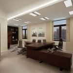 Подсветка потолка в офисе