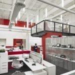 Планировка двухуровневого офиса