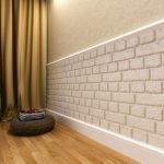Современное оформление стен и пола