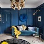 Синий цвет в дизайне комнат
