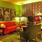 Элементы декора в стиле 60-х в интерьере