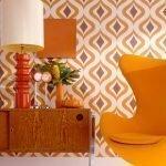 Комната в оранжевых тонах