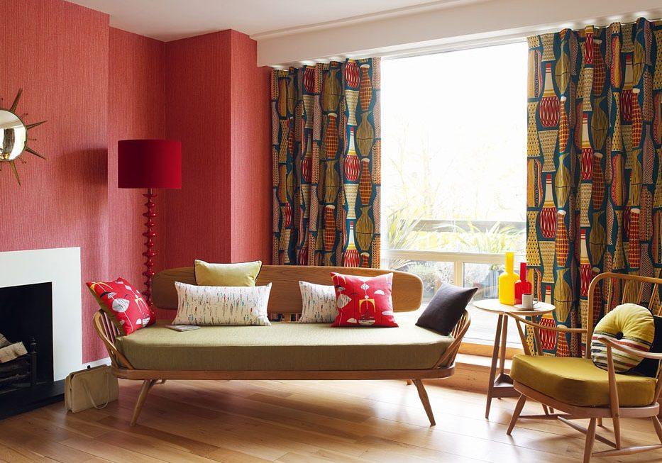 Стиль 60-х в интерьере гостиной