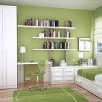 Спальня для подростка в зеленых тонах