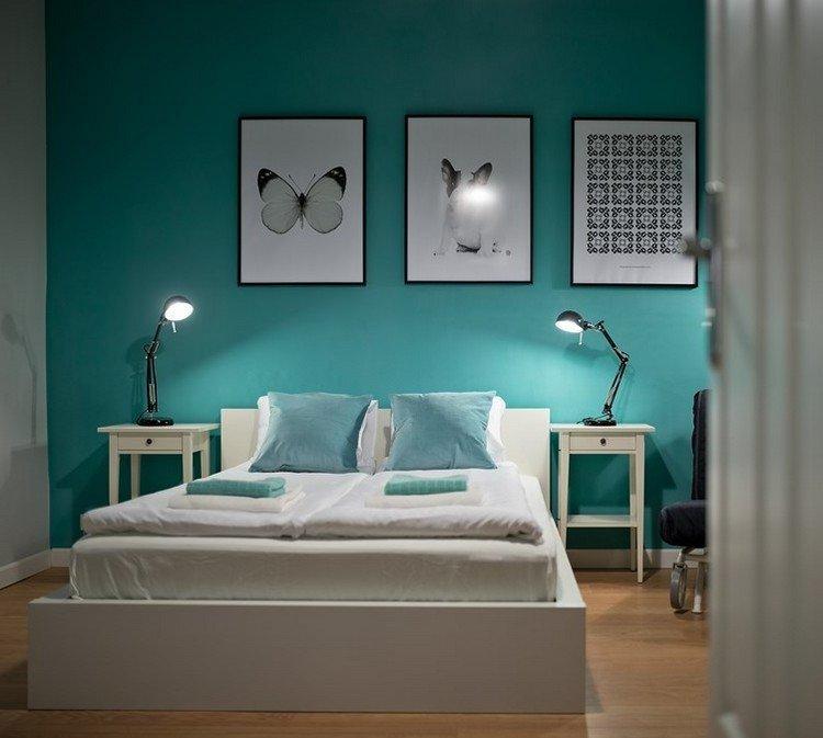 Изумрудный в дизайне спальни