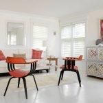 Сочетание белого, красного и черного в дизайне