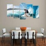 Картина с серфингистом
