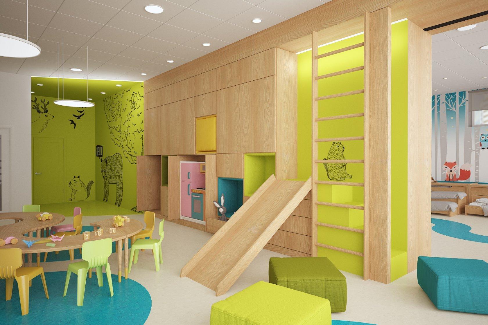 Зонирование в интерьере детского сада