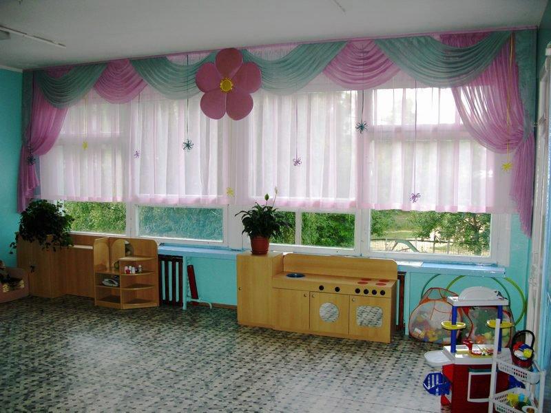 Текстиль в интерьере детского сада