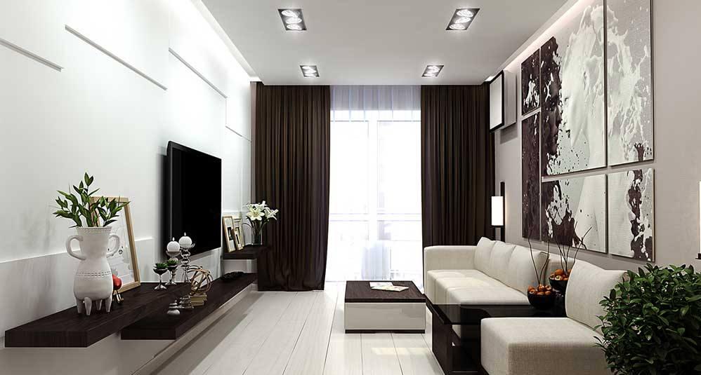 Освещение в гостиной 19 кв м